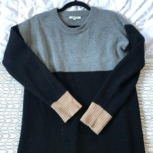 Madewell colorblock sweat dress size xs